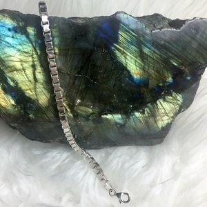 Jewelry - Venetian Square .925 Sterling Silver Bracelet